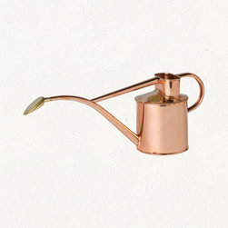 Copper Watering Can - My mother had a little copper watering can for indoor plants when I was a child. This one has the same delicate lines and long spout that makes these sorts of watering cans invaluable. You'll be amazed at how much less water you spill.