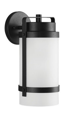 Sea Gull Lighting - Sea Gull Lighting 8622401-12 Bucktown 1-Light Outdoor Wall Lantern in Black - The Sea Gull Lighting Bucktown 1-Light outdoor wall fixture in black enhances, the beauty of your property, makes your home safer, and more secure and increases the number of pleasurable hours you spend outdoors.