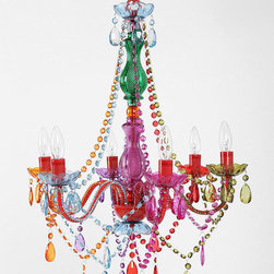 Large Rainbow Chandelier - I'm pretty sure my daughter would say that we need one of these for every room, including the bathroom. Yep. She just walked in, saw this on the computer, exalted its beauty and said she wants it.