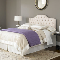 Fashion Bed Group - Fashion Bed Martinique Ivory Twin Upholstered Headboard - Add a classic touch to your bedroom with this ivory upholstered headboard from Fashion Bed Group. A button-tufted tailoring finishes this headboard.