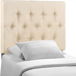 Modway Imports - Modway MOD-5205-IVO Clique Twin Headboard In Ivory - Modway MOD-5205-IVO Clique Twin Headboard In Ivory