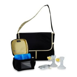 Medela - Medela Breast Pump Messenger Bag - Specifically designed to carry the included Medela Pump In Style Advanced starter breastpump, this convenient and stylish Messenger Bag keeps all your pumping accessories organized and ready to travel. Model 57086.