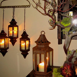 Patina Hanging Lantern By madebysheri - I don't think you can have too much ambient lighting and these lanterns provide such a gorgeous glow!