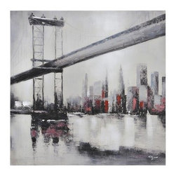 City Links II Canvas Wall Art - 30W x 30H in. - Black and white with pops of red, City Links II Canvas Wall Art – 30W x 30H in. is another beautiful work from Giovanni Russo. The canvas print includes hanging hardware.About Ren-WilFor over 45 years, Ren-Wil has been creating quality wall decor, mirrors, and lighting that enhances any space. The company's talented team of in-house artists travels the world to find the newest materials, fashions, and trends, and then applies them to their work. The team also uses multi-media designs for many of their pieces. Ren-Wil is the leader in Alternative Wall Decor and is the market leader in Canada. They thrive on offering a fresh, innovative product line and superior customer service.