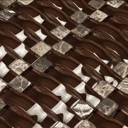 Martini Mosaic - Martini Mosaic Glass Mosaic Tile Vento Rich Chocolate Mcgb07 - HomeThangs.com -