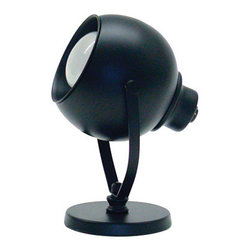 House of Troy - Mini Spot Eyeball Task Light - House of Troy SP520-7 - Black Finish. 6H. Takes one 40 watt R14 bulb (included). Weight: 3 lbs. By House of Troy