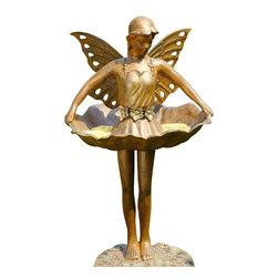 """SPI - Fairy Ballerina Birdfeeder - -Size: 22"""" H x 13"""" W x 14.5"""" D"""