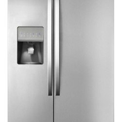 """Whirlpool - WRS325FDAD Energy Star Rated 36"""" 25.4 cu. ft. Side by Side Refrigerator with Adj - Take home a refrigerator that makes storing all your favorite fresh and frozen food easy With 25 cu ft of capacity this Whirlpool side-by-side refrigerator offers the space you need to meet all your food storage needs LED lighting will also make sure..."""