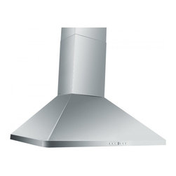 """Z Line Kitchen and Bath - ZLKF1-Wall Mount Range Hood, 30"""", Chimney Short Kit for 8 Ft. Ceilings - The ZLKF1-Wall Range combines a simple design, with a modern shape.  This stainless steel range hood complements contemporary and electric kitchens alike. This range hood comes complete with hood, standard chimney, mounting bracket, 6"""" outlet with back draft damper, vent kit and hardware.  Available in sizes: 30"""" and 36"""""""