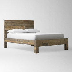 Emmerson Bed - Something about the combination of old wood and modern lines on this bed makes it the perfect focal point for any bedroom. Pair it with simple and crisp white bedding, and you can't go wrong.