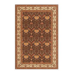 Momeni - Traditional Floral Print New Zealand Wool Rug in Cocoa - Persian Garden PG-12 (3 - Choose Size & Shape: 3.0 ft. x 5.0 ft. Rectangle. Power loomed. Space-dyed yarn. 100% New Zealand Wool. Care InstructionInspired by the rarest Persian Antique pieces, Persian Garden is a unique collection of power-loomed rugs that evoke a sense of the past in modern-day colors and interpretations. These rugs feature an abrash effect and hand-serged edges for a quality finish.
