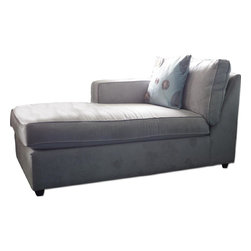 Crate & Barrel Microsuede Chaise Lounge - Retail Price: $899