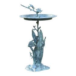 "SPI - Turtle & Fish Sundial / Birdbath - -Size: 28"" H x 15.5"" W x 15.5"" D"