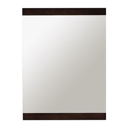 Home Decorators Collection - Erin Mirror - Add an air of luxury and style to our bathroom with the Erin Mirror. With a solid wood frame featuring a deep walnut finish, this high quality mirror is treated with a special finish to help prevent rusting. Wood finish sealed with seven layers of protectant to minimize damage from moisture and humidity. Works well with modern or contemporary designs.
