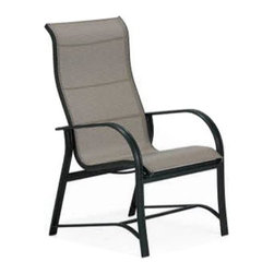 Winston - Winston Mayfair Sling High Back Swivel Tilt Dining Chair - M65049-JAV-995 - Shop for Chairs and Sofas from Hayneedle.com! When people start telling you that they just found out about the Winston Mayfair Sling High Back Swivel Tilt Dining Chair you should swivel around dramatically in your newest patio chair and inform them that you knew about Winston outdoor furniture before it became cool. They might not believe that you've had that chair for years but that's because the extruded aluminum frame and Sunbrella fabric sling will look just as good as new even after you've had it for years. Aluminum is naturally rust-proof and the Sunbrella sling is designed to be resistant to fading and weathering. The swiveling will stay smooth and the heavy duty rocking hinge will provide a soothing rocking motion for years. Pick your favorite frame finish and fabric style and you'll have the customized look that you've been searching for.About Winston Furniture CompanyStarted in 1975 Winston Furniture Company manufactured simple aluminum furniture with virgin vinyl straps. As the popularity of casual furniture increased and consumers craved comfort Winston answered the call by being the first company to introduce cushioned mildew-resistant fabrics for outdoor use. In 1982 Winston was once again at the forefront by adding stylish easy-to-maintain sling furniture to its product line.Today the Winston Furniture line is comprised of cushion and sling furniture with a host of styles. A variety of powder-coated paint finishes and sling colors along with over a hundred fabric selections allow you to create just the look you need. All Winston Furniture product materials are proudly sourced in the U.S.A. Welding is completed in a state-of-the-art manufacturing facility in Juarez Mexico. Products are shipped to El Paso Texas for finishing and final inspection before being shipped to your door.Winston Furniture Company Inc. has earned several design and service awards from retailers 