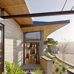 Caterpillar House - Weiland pivot door.