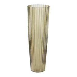 Lazy Susan - Champagne Fizz Fluted Vase - -Handcrafted