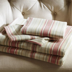 Jacqueline Stripe Organic Flannel Sheet Set - Organic flannel striped sheets? Yes, please! These comfy linens are perfect for those crisp autumn nights. I'll take a couple of sets for my house.
