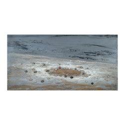 Bassett Mirror - Bassett Mirror Hand-Painted Canvas, Deep Ocean - Deep Ocean, High Gloss