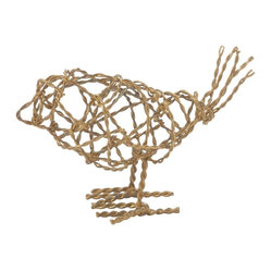 Brass Scribble Bird, Small