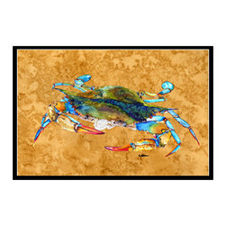 Caroline's Treasures - Crab Indoor Or Outdoor Mat 24X36 8655 Doormat - Indoor / Outdoor Mat 24x36 - 24 inches by 36 inches. Permanently dyed and fade resistant. Great for the front door or the back door.  Use this mat inside or outside.    Use a garden hose or power washer to chase the dirt off of the mat.  Do not scrub with a brush.  Use the Vacuum on floor setting.  Made in the USA.  Clean stain with a cleaner that does not produce suds.