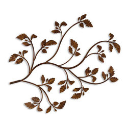 Uttermost - Uttermost 13435 Rusty Branch Plaque from the Billy Moon Collection - Uttermost 13435 Billy Moon Rusty Branch Wall ArtMade of hand forged and hand embossed metal, this decorative wall art is finished in distressed brown rust with black undertones.Features:
