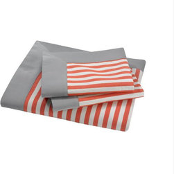Draper Stripe Duvet Set - Can you say fun summer bedding? Just looking at my bed (made or not;) would make me happy!