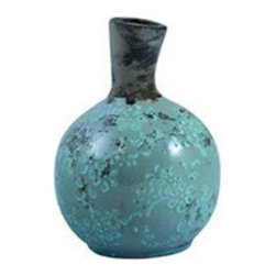 Seedhead Vase - A delicate pattern of artful aging in the glaze gives this terracotta bud vase a remarkable texture and a unique look. Pair it with a single, showy bloom for a simple and stunning style piece.