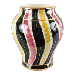Bequet - Consigned Vintage Belgian Majolica Hand-Painted Vase - Product Details