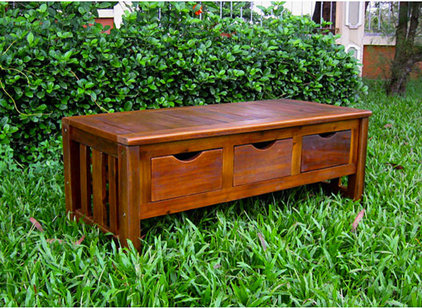 Traditional Outdoor Stools And Benches by Overstock.com