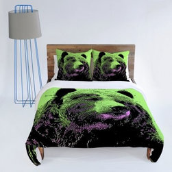 DENY Designs Romi Vega Bear Duvet Cover - Rendered in bold, vivid colors, the DENY Designs Romi Vega Bear Duvet Cover features a gorgeous bear art print by Romi Vega. Made from polyester microfiber, this duvet cover is machine washable, and custom-printed for each order using a six-color dye process that keeps the pattern looking beautiful for years.About DENY DesignsDenver, Colorado based DENY Designs is a modern home furnishings company that believes in doing things differently. DENY encourages customers to make a personal statement with personal images or by selecting from the extensive gallery. The coolest part is that each purchase gives the super talented artists part of the proceeds. That allows DENY to support art communities all over the world while also spreading the creative love! Each DENY piece is custom created as it's ordered, instead of being held in a warehouse. A dye printing process is used to ensure colorfastness and durability that make these true heirloom pieces. From custom furniture pieces to textiles, everything made is unique and distinctively DENY.