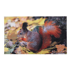 Squirrel Printed Doormat