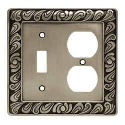 Liberty Hardware - Liberty Hardware 64050 Paisley WP Collection 4.96 Inch Switch Plate - Brushed Sa - The Paisley design adds a glamorous feel to every room with its tear drop design. The pewter finish brings distinguished style and old world feel to any room. Fasteners are included and sized to fit standard electrical boxes. This family is available in the 10 most popular wall plate configurations.. Width - 4.96 Inch,Height - 4.9 Inch,Projection - 0.3 Inch,Finish - Brushed Satin Pewter,Weight - 0.48 Lbs