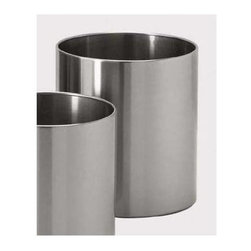 Zack - Grande 9.85 in. Flower Pot - Round shape. Stylish and logical design. Brushed silk polish. Made from 18/10 stainless steel. Matte finish. Made in Germany. 9.85 in. Dia. (52.9 oz.)Plants enliven any environment. Whether you have a Yucca or Ficus, our Grande planters will perfectly complement your plants.