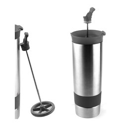 Adnart - The Hot Press - Black, Black - Stainless steel vaccum insulated coffee maker