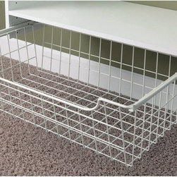 Easy Track - Easy Track Closet 8 in. Wire Basket - 1308 Multicolor - 2180-1816 - Shop for Closet from Hayneedle.com! About Easy Track Easy Track is designed to you command your closet like never before. With a single wall-mounted rail and an endless array of cabinets hangers racks and more the Easy Track system let you put everything in its right place. Begin with a starter kit and expand from there. When your needs or space change so does your Easy Track closet system. They're great in closets from the basic to the walk-in and they also provide amazing storage solutions in laundry rooms craft rooms and more. Get Easy Track and see how simple your storage can be.