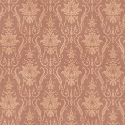 Warner - Pt71348 Damask Ironworks Damask Wallpaper - PT71348 Damask Ironworks from Patina 2 is a wallpaper with a light brown background with a beige damask.