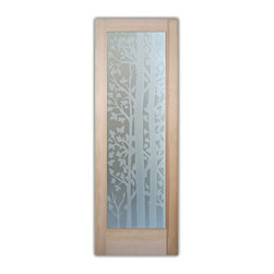 "Glass Front Doors - Glass Entry Doors - Frosted Glass Designs - Glass Front Doors, Entry Doors that Make a Statement! Your front door is your home's initial focal point and glass doors by Sans Soucie with frosted, etched glass designs create a unique, custom effect while providing privacy AND light thru exquisite, quality designs!  Available any size, all glass front doors are custom made to order and ship worldwide at reasonable prices.  Exterior entry door glass will be tempered, dual pane (an equally efficient single 1/2"" thick pane is used in our fiberglass doors).  Selling both the glass inserts for front doors as well as entry doors with glass, Sans Soucie art glass doors are available in 8 woods and Plastpro fiberglass in both smooth surface or a grain texture, as a slab door or prehung in the jamb - any size.   From simple frosted glass effects to our more extravagant 3D sculpture carved, painted and stained glass .. and everything in between, Sans Soucie designs are sandblasted different ways creating not only different effects, but different price levels.   The ""same design, done different"" - with no limit to design, there's something for every decor, any style.  The privacy you need is created without sacrificing sunlight!  Price will vary by design complexity and type of effect:  Specialty Glass and Frosted Glass.  Inside our fun, easy to use online Glass and Entry Door Designer, you'll get instant pricing on everything as YOU customize your door and glass!  When you're all finished designing, you can place your order online!   We're here to answer any questions you have so please call (877) 331-339 to speak to a knowledgeable representative!   Doors ship worldwide at reasonable prices from Palm Desert, California with delivery time ranges between 3-8 weeks depending on door material and glass effect selected.  (Doug Fir or Fiberglass in Frosted Effects allow 3 weeks, Specialty Woods and Glass  [2D, 3D, Leaded] will require approx. 8 weeks)."