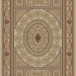 "Concord Global - Concord Global Jewel Aubusson Ivory 2'3"" x 7'7"" Runner Rug (4412) - Jewel collection is machine-made in Turkey using 100% heat-set polypropelene. These traditional to contemporary rugs will make a colorful addition to any area."
