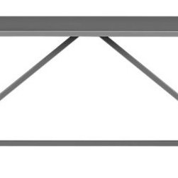 "Walker II Slate 95"" Dining Table - This strut table (available in different colors) is practical for the overhang on each end. It'd be easy to seat guests at either end. Gray is a fantastic table color, and with the clean, slim lines, it would work well in virtually any space."