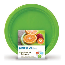 Small On The Go Plates | 10 Count - The next time you throw a party or plan a picnic, consider On the Go plates. They are lightweight and festive but can also last and last. We designed them to be dishwasher safe and withstand hundreds of uses. Unlike typical plastic dishware, they won't crack, warp or break.