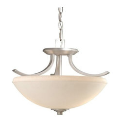 Vaxcel International Co Ltd - Helsinki Steel Semi-Flush Ceiling Light - Vaxcel International Co Ltd products are highly detailed and meticulously finished by some of the best craftsmen in the business.