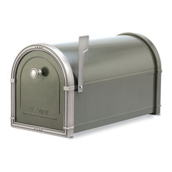 Coronado Post Mount Mailbox Bronze with Antique Nickel Accents