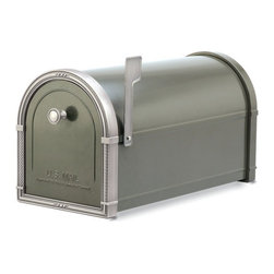 Architectural Mailboxes - Coronado Post Mount Mailbox Bronze with Antique Nickel Accents - Priority post: If you're looking for a durable and unusually stylish mailbox, this one delivers. It's created of heavy galvanized steel for strength and has solid brass accents for a distinctive look.