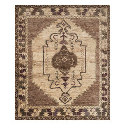 """Loloi Rugs - Loloi Rugs Nomad Collection - Mocha/Beige, 2'-0"""" x 3'-0"""" - Featuring rich colors, ethnic patterns, and an earthy 100% jute fiber, the Nomad Collection from India pays homage to tribal design while updating the look for today's interiors. The thick, hand-knotted pile and bold design make for an eye-catching centerpiece in any room."""