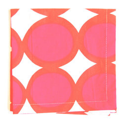 See Design - Cocktail Napkin, Set of 4, Egg Pink/Orange - Spice up parties with these fun mix-and-match napkins! Set of 4. They are 100% cotton and ten inches square.