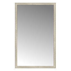"""Posters 2 Prints, LLC - 37"""" x 59"""" Libretto Antique Silver Custom Framed Mirror - 37"""" x 59"""" Custom Framed Mirror made by Posters 2 Prints. Standard glass with unrivaled selection of crafted mirror frames.  Protected with category II safety backing to keep glass fragments together should the mirror be accidentally broken.  Safe arrival guaranteed.  Made in the United States of America"""