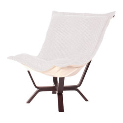 Howard Elliott - Howard Elliott Tempo White Milan Puff Chair - Milan puff chair tempo white