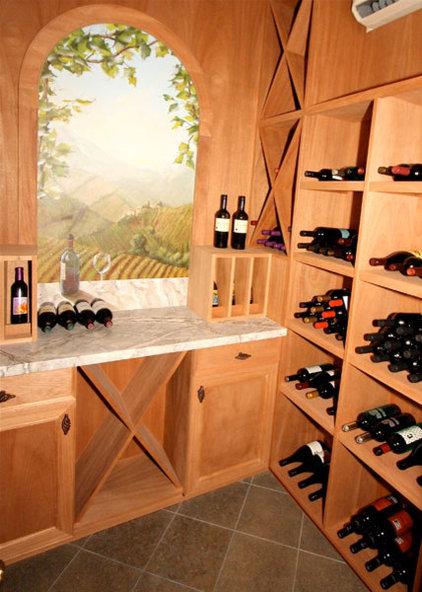Contemporary Wine Cellar by LG Construction + Development