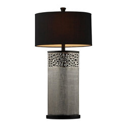 Dimond Lighting - D1490-LED Bellevue Table Lamp, Silver Plated - Modern Contempo Table Lamp in Silver Plated from the Bellevue Collection by Dimond Lighting.